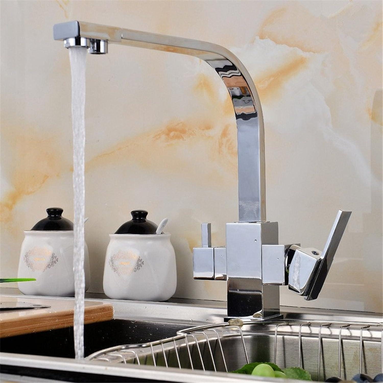 FHLYCF hahn mit kupfer, warmen und kalten wasserhahn in der küche, mit reinen wusch teller (rotary oat farbe direkt trinken  ,e
