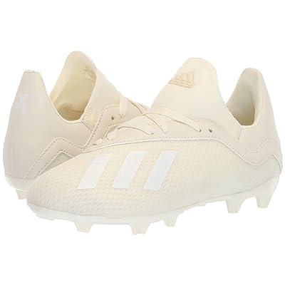 adidas Kids X 18.3 FG Soccer (Little Kid/Big Kid) (Off-White) Kids Shoes