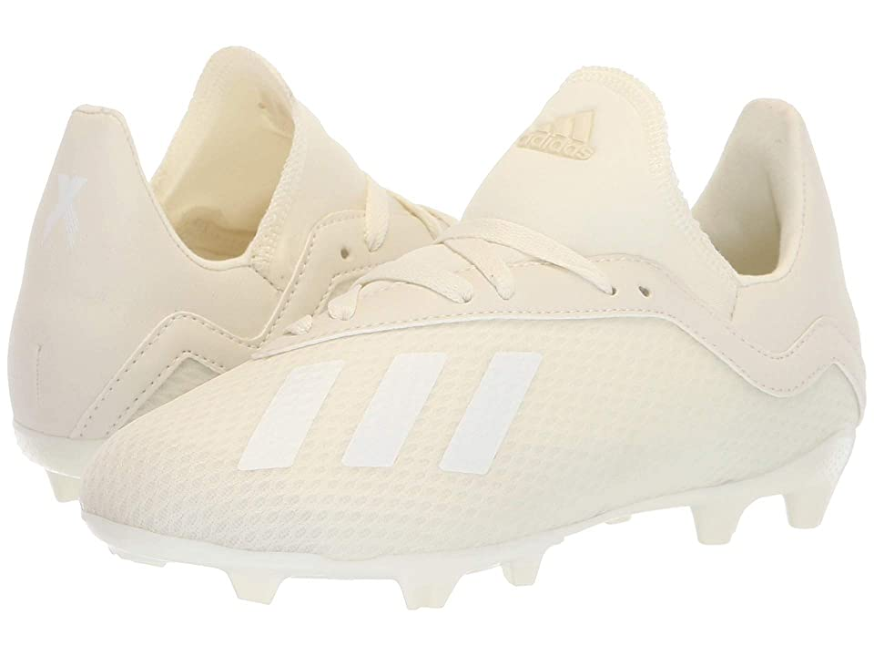 adidas Kids X 18.3 FG Soccer (Little Kid/Big Kid) (Off-White) Kids Shoes