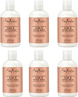 Shea Moisture Coconut & Hibiscus Curl & Style Milk, 8 oz, Pack of 6