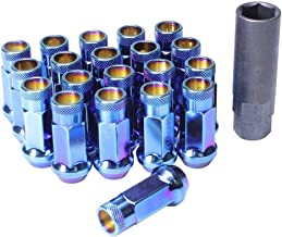 Wheelmate 32905UN Muteki SR48 Open End Lug Nut, Burning Blue Neon, 12 x 1.25, 48mm