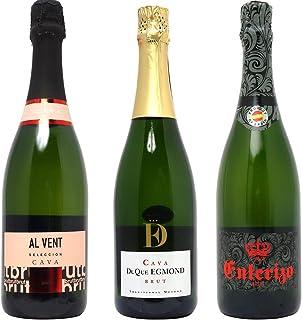 ヴェリタス シニアソムリエ厳選 直輸入 スパークリングワイン3本セット((W0AFZ2SE))(750mlx3本ワインセット)