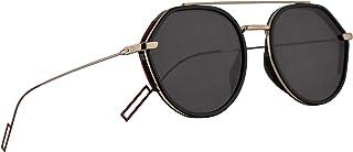 0abda2bf90820 Christian Dior Homme Dior0219S Sunglasses Black Gold w Grey Lens 53mm 2M22K  0219S Dior 0219