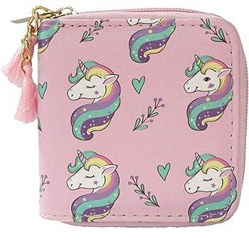 Timlee Cute Rainbow Unicorn Design Short Wallets (unicorn E)