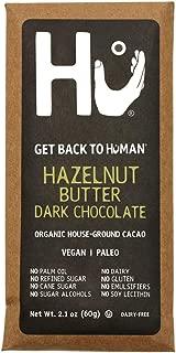 Hu Vegan Chocolate Bars | 4 Pack Hazelnut Praline Chocolate | Gluten Free, Paleo, Non GMO, Kosher Dark Chocolate | 2.1oz Each