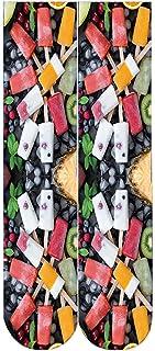 Sylar, Calcetines Estampados Hombre 3D Impresión Calcetines Deportivos Para Hombre Y Mujer Calcetines De Algodón Con Estampado De Frutas Unisex Calcetines Mujer Dibujos Calcetines Ciclismo Mujer(1 Par)