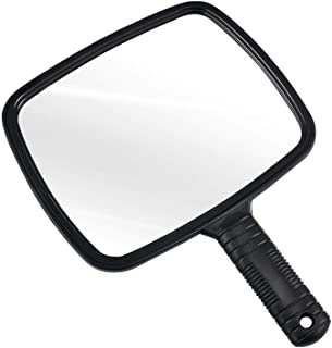 TRIXES Professional Handheld Salon Barbers Hairdressers Mirror with Handle - Hand Mirror Large for Makeup Hairdressing Sha...