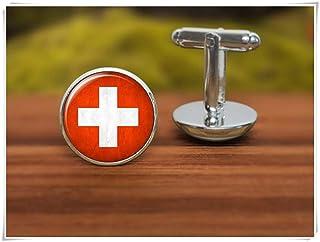 we are Forever family Gemelos de la bandera de Suiza, gemelos de la bandera de Suiza
