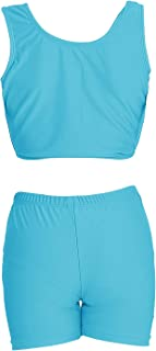 speerise Girls 2-Piece Gymnastics Dance Tank Top with Shorts Activewear Set