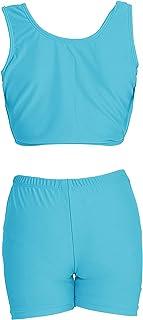 speerise Girls 2-Piece Gymnastics Dance Tank Top with Shorts Activewear Set