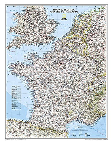 France, Belgium, And The Netherlands Classic, Laminated: Wall Maps Countries & Regions