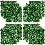 GHLSDXTJ Plantas Hiedra Artificial Alfombrillas de boj Artificiales Verdes Valla de Cobertura Pantalla de privacidad Decoración del jardín del hogar Pared césped 23.62'x15.75