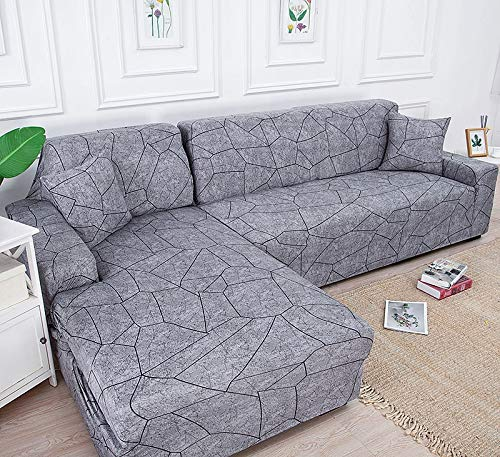 ASCV L shape sofa covers for living room stretch material Corner sofa chair cover couch cover sectional sofa A6 4 seater