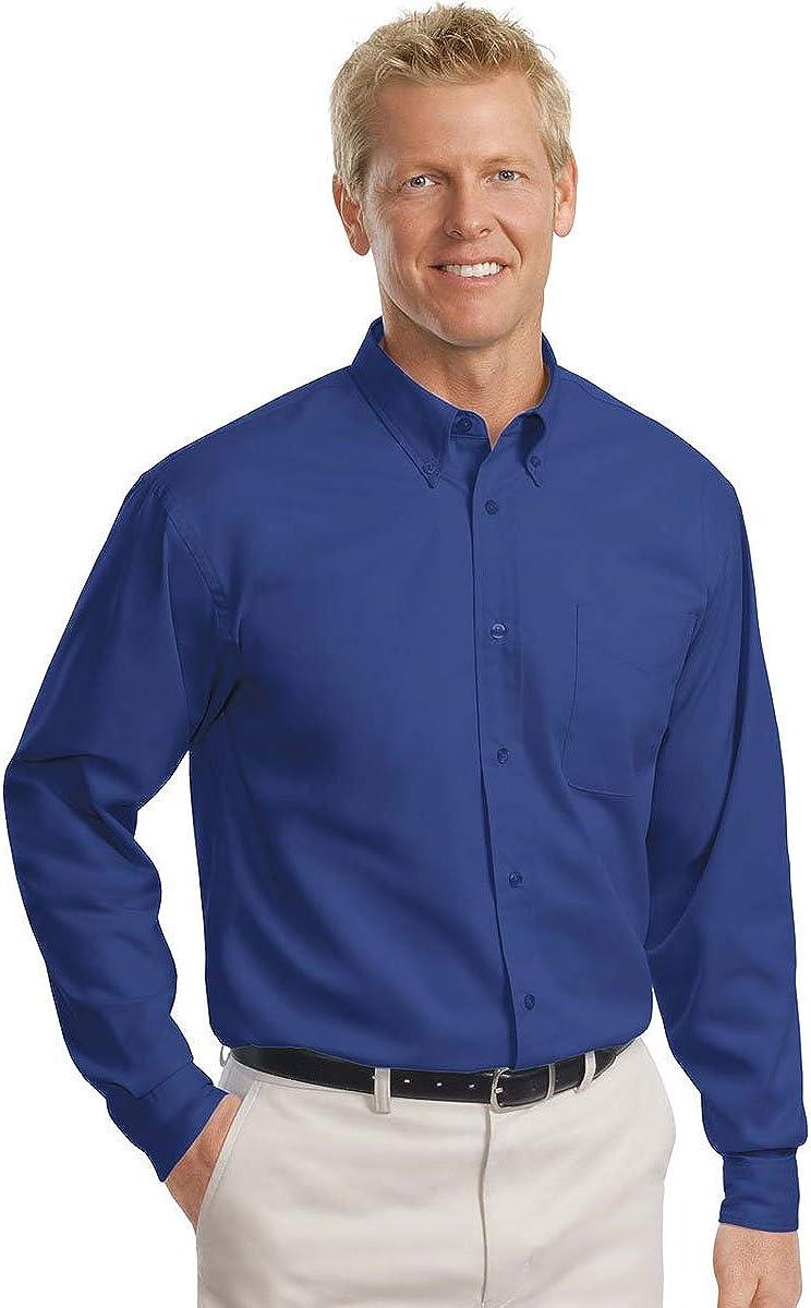 Port Authority Long Sleeve Easy Care Shirt - Mediterranean Blue S608 3XLT
