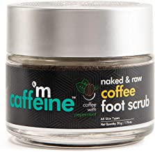 mCaffeine Naked & Raw Coffee Foot Scrub | Dead Skin & Tan Removal | Peppermint, Sweet Almond Oil | Paraben Free | 50 g