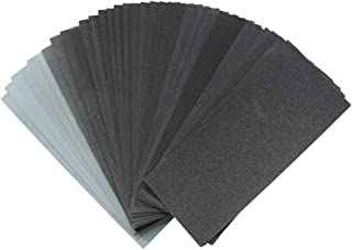 VIZ-PRO 36 Pcs 120 to 3000 Assorted Grit Sandpaper for Metal Sanding, Automotive Polishing and Wood Furniture Finishing, Dry or Wet Sanding, 9 x 3.6 Inches