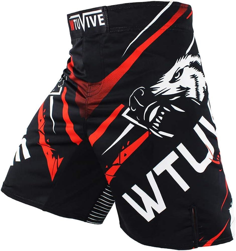 Kansas City Max 61% OFF Mall WTUVIVE MMA Shorts for Men Muay Print Training Fight Thai