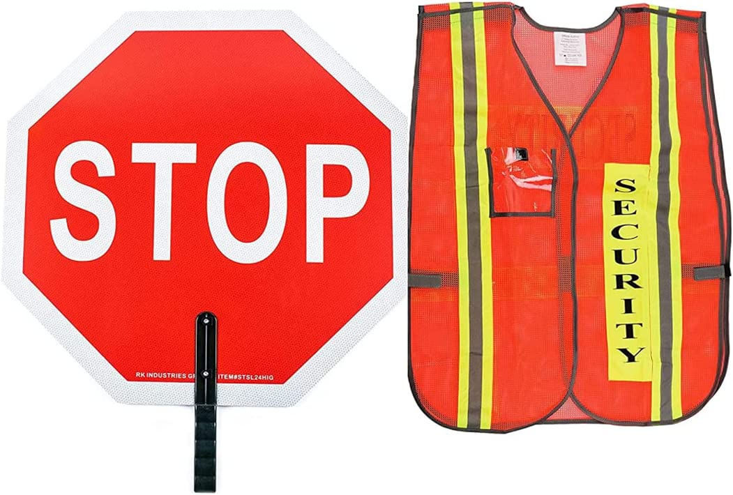 RK Aluminum Stop Credence Paddle Sign Vest- Gua with Wholesale Safety Crossing