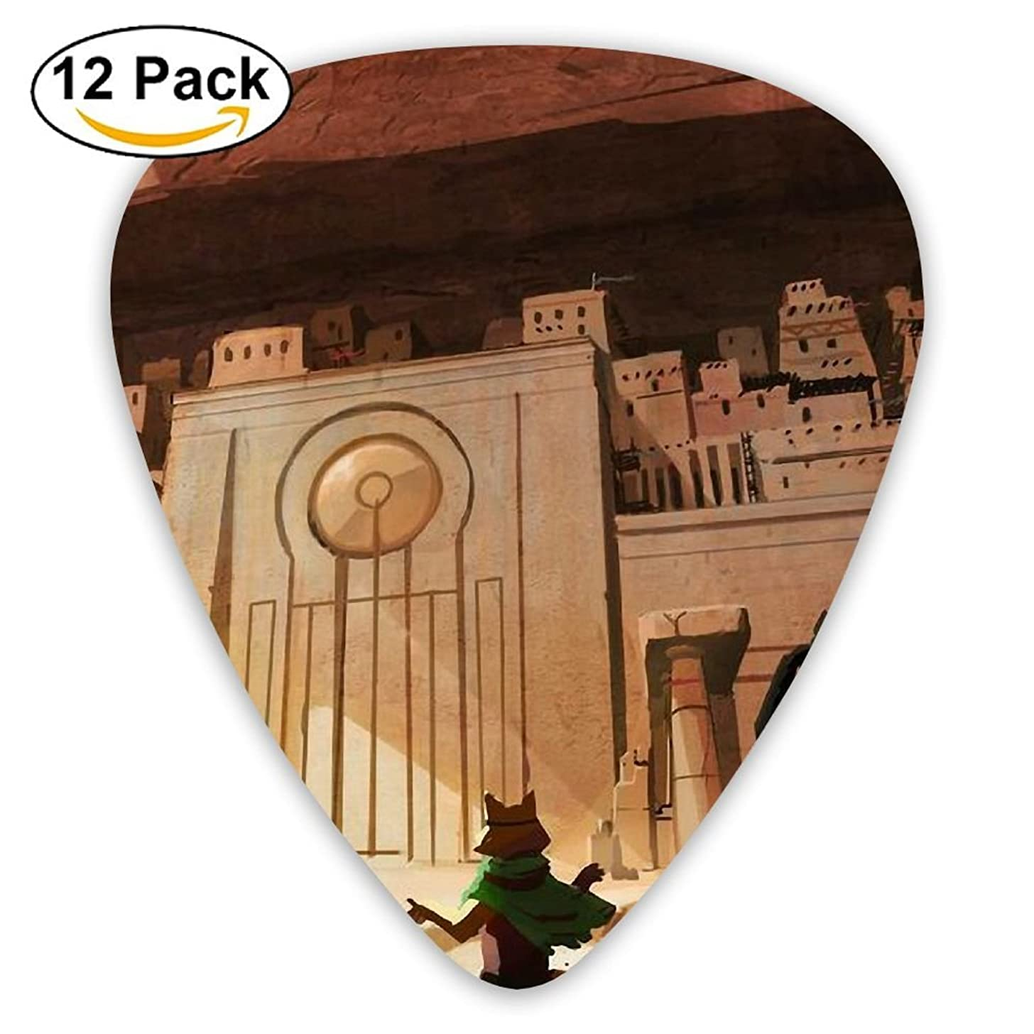 Guitar Picks City In The Wall Medium Customized Complete Assorted 12 Pack