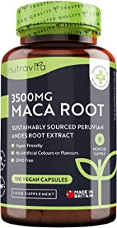 Maca Root Capsules 3500mg – 180 Vegan Capsules – High