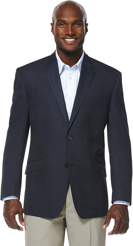 Savane Men's Tailored Striated Solid Sports Jacket