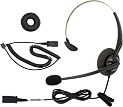 DailyHeadset RJ9 NC Mono Office Phone Corded Headset for Analog IP Office Landline Phone Aastra Avaya Nortel Digium Polycom Mitel ShoreTel Packet 8 AltiGen TalkSwitch Telephones