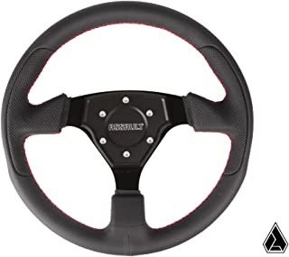 Assault Industries Black/Green Quick Release Steering Wheel Kit for Polaris RZR