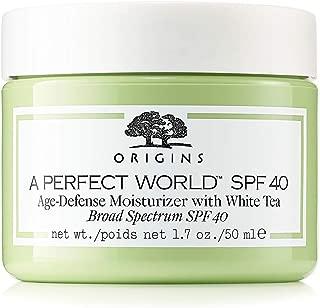 Origins A Perfect World SPF 40 Age-Defense Moisturizer with White Tea 1.7 Ounce