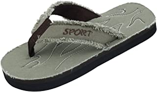 Sunville New Starbay Brand Boy's Light Weight Canvas Flip Flops Sandals