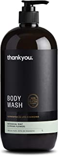 Thankyou Body Wash Botanical Mint & Spring Flowers - Refreshing, 1L (more options available)