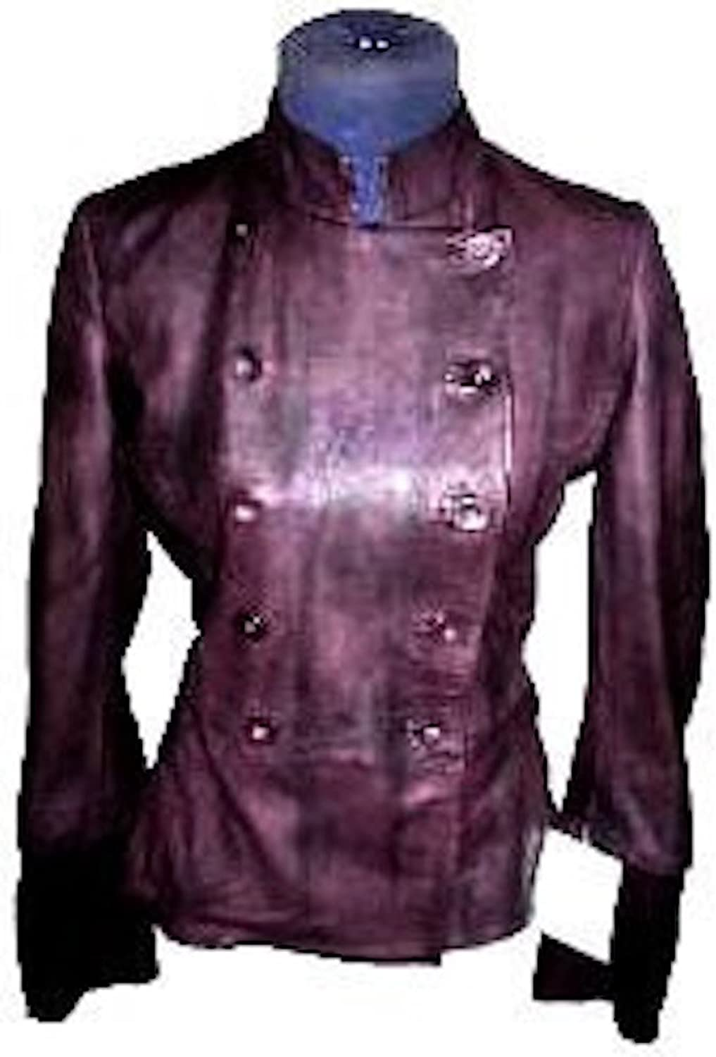 Fadcloset Womens New Yorker Leather Coat