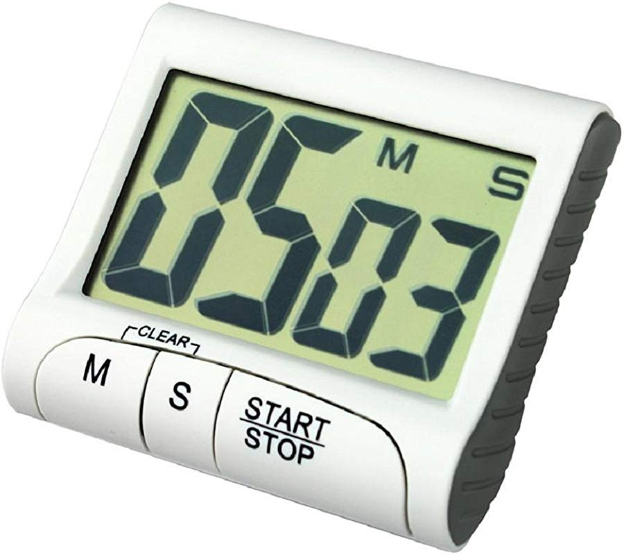 Time Counting Clock Fheaven Portable Digital Countdown Large LCD Screen Timer Clock Alarm For Kitchen Cook