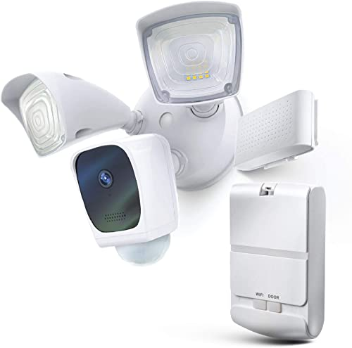 high quality Home Zone new arrival Security Floodlight Camera and lowest Smart Garage Door Opener Bundle sale