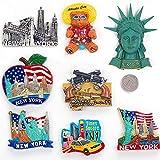 imanes de Nevera 1pcs hecho a mano nueva YORK 3D resina nevera nevera nevera Turismo Souvenir collectible regalo de verano