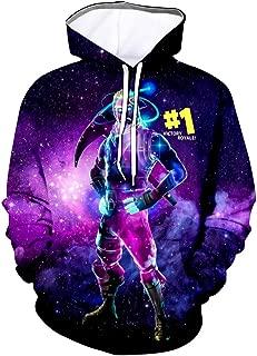 OPCCXM Youth 3D Printed Hooide Battle Royale Floss Sweatshirt with Pocket for Ninja Boys