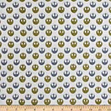 Camelot Fabrics 0673899 Star Wars Rebel Logo Metallic