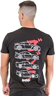 Nissan Skyline GTR Generations JDM Drift Car Turbo Mens Black Cotton Tee Shirt