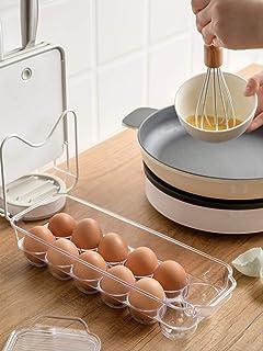 qwess Boîte À Oeufs Maison Cuisine Réfrigérateur Boîte De Rangement pour Mettre des Oeufs en Plastique Anti-Choc Transpare...