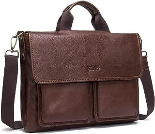 "NYDZDM Women Men's Messenger Bag Briefcase Vintage Leather Crossbody Shoulder Satchel Bags 15"" Laptop Handbag"