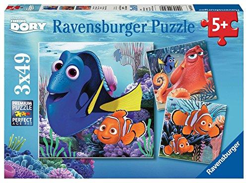 Ravensburger Kinderpuzzle 09345 - Findet Dory - 3 x 49 Teile