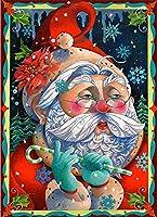 大人と子供のためのDiy5Dダイヤモンド絵画キットアート、クリスマスサンタクロースパターン家の壁の装飾のためのツールアクセサリー付きフルドリルクロスステッチクラフトセット-50x65cm