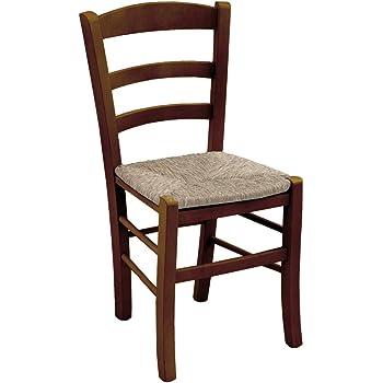 Sedia in Legno Naturale di Faggio, Seduta Paglia, Mod