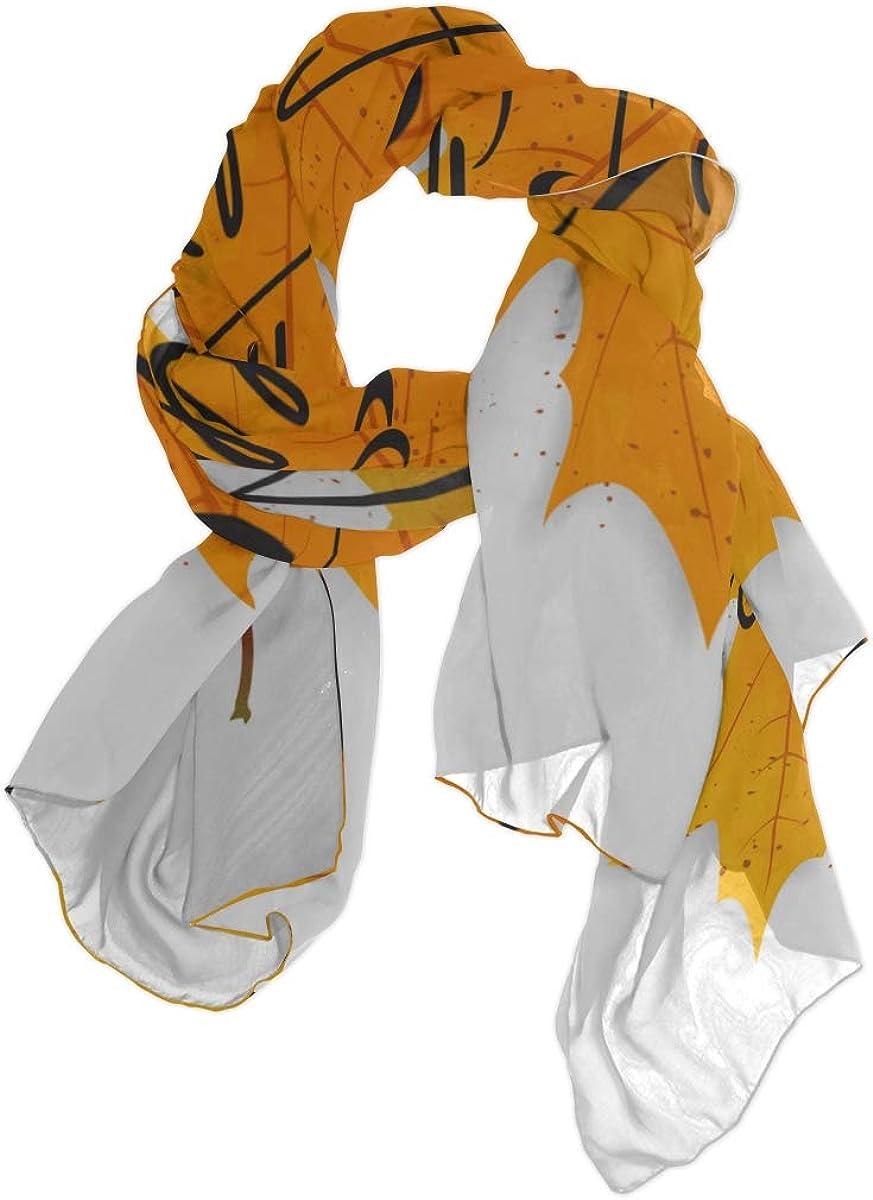 Scarf Toddler Hello Autumn Fall Harvest Season Color Fashion Neckerchief Scarf For Women Fashion Scarfs For Women Lightweight Lightweight Print Scarves Lightweight Wrap Scarf New Scarf