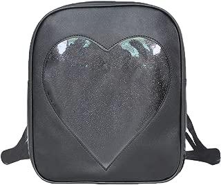 Donalworld Women Ita Bag Plastic Backpack Clear Summer Beach Shoulder Bag