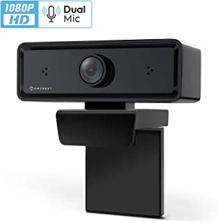 Amcrest ProStream 1080P Webcam with Microphone Web Cam USB Camera, Computer HD Streaming Webcam for PC Desktop & Laptop with Mic, Wide Angle Lens & Large Sensor for Superior Low Light (AWC2198)