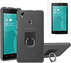 Gzerma Case for DOOGEE X5 Max Pro with Phone Holder Screen Protector, (Not for Doogee X5), Shock Absorbing TPU Protection Cover with Kickstand and Shatterproof Protective Film for Doogee X5 Max Gray