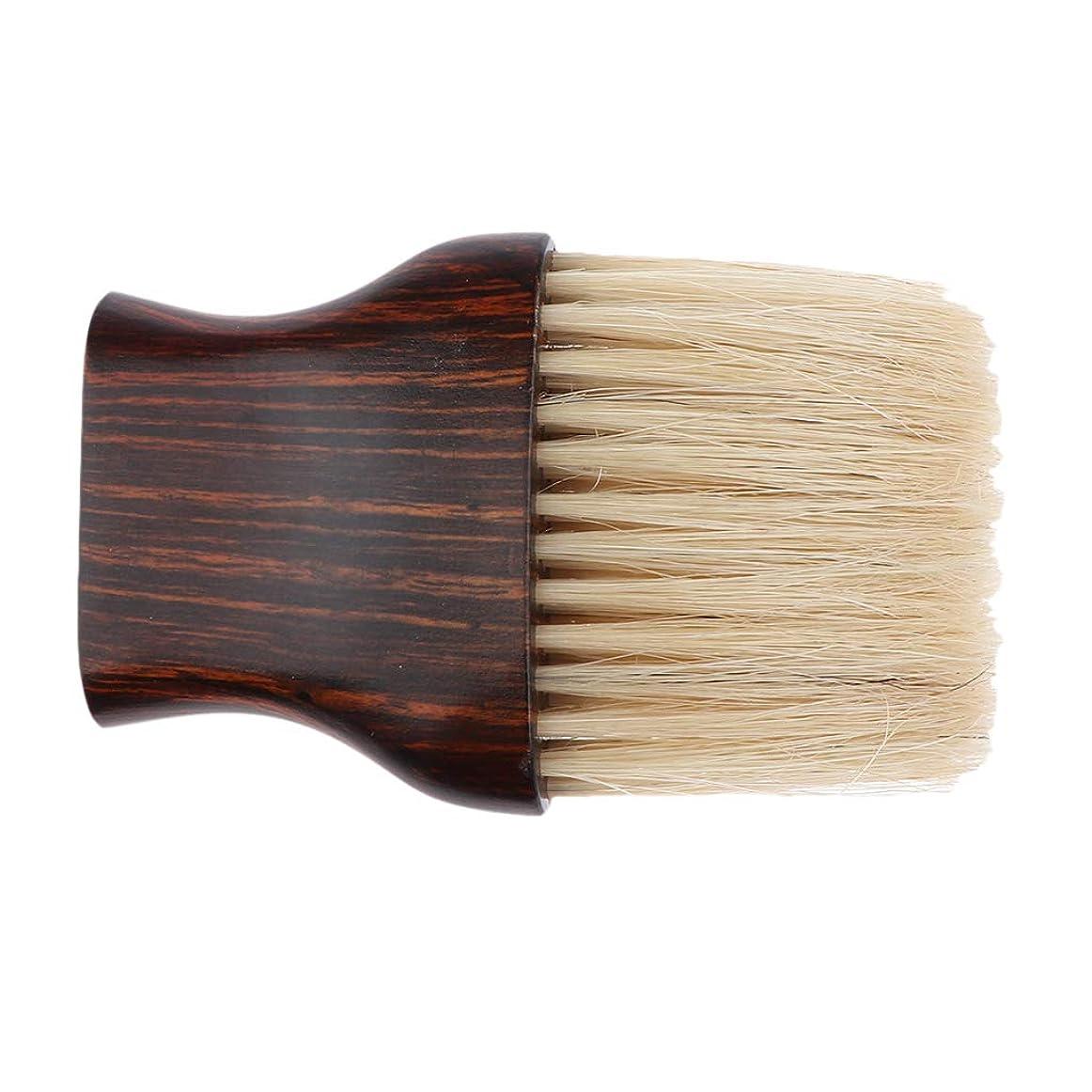 作業ウィスキー一瞬Perfeclan ヘアブラシ 毛払いブラシ 木製ハンドル 散髪 髪切り 散髪用ツール 理髪店 美容院 ソフトブラシ