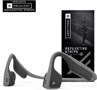 Aftershokz AfterShokz Trekz Titanium Open-Ear Wireless Bone Conduction Headphones with Brilliant Reflective Strips, Slate ...