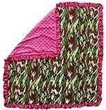 Dear Baby Gear Baby Blankets, Camouflage, Hot Pink Minky