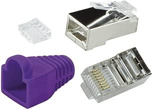 odedo® 10 Pack – Conector crimp Cat6 metal (apantallados con asistente y protección contra torceduras, Crimp conector de red lankabel de red macho RJ45 Cat 6